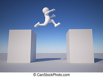 Jump - 3d people icon jumping - This is a 3d render...
