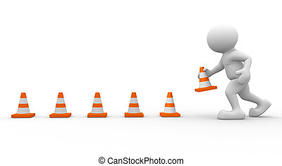 Traffic coins - 3d icon man and traffic coins - This is a 3d...