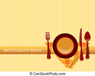 ristorante, menu, disegno, vettore