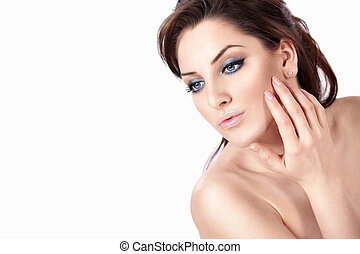 Health-care - An attractive young woman isolated