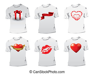 T-shirt with Valentine's Day print