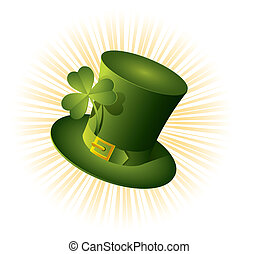 St Patricks Day green hat of a leprechaun