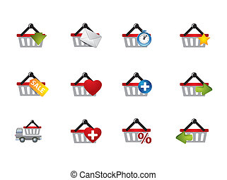 E-commerce cart icons