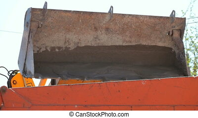 bulldozer Scoop - bulldozer bucket in work