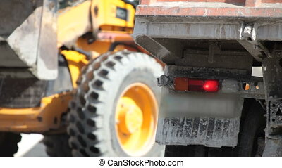 truck accident on  road - truck accident on the road