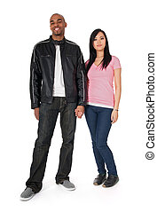 African American guy with Asian girlfriend