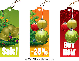 Christmas discount tags