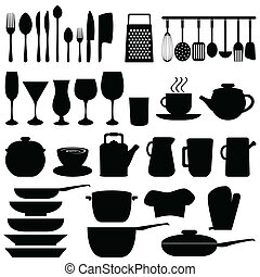 Kitchen utensils and objects - Kitchen objects and utensils...