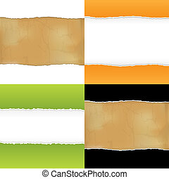 Collection Of Fragmentary Paper, Vector Illustration