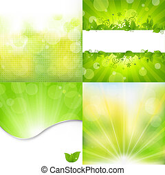 Nature Backgrounds Set