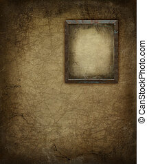 Grunge Picture Frame on Wall