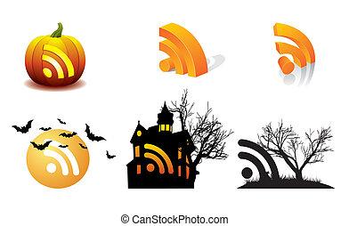 Halloween Pumpkin vector RSS