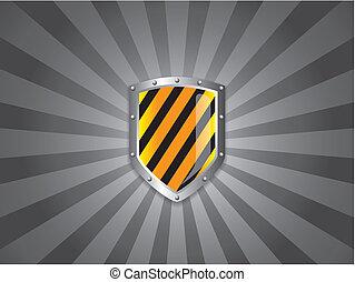 Medieval Shield on dark background