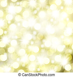 Christmas Lights and Stars Background - Christmas Lights and...