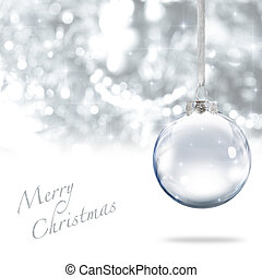 Merry Christmas ball - Merry Christmas glass ball against...