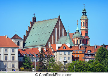Warsaw's Old Town Buildings