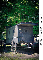 Mobile Prison Cell - kibitka, in Warsaw's Citadel - Mobile...