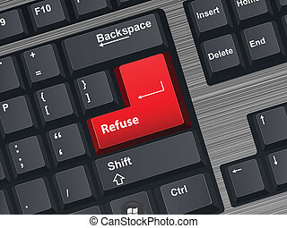 Refuse - Vector Illustration of a computer keyboard