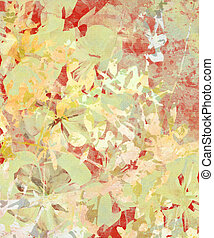 Grunge Impressionist Flower Abstract on Paper