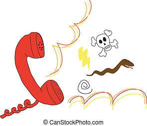 Angry call - A rude and angry answer on the phone.