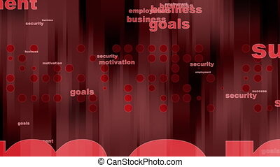 Business Background in Red Loop - Animated Business...