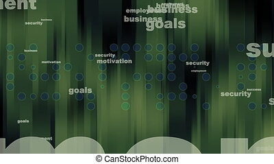 Business Background in Green Loop - Animated Business...