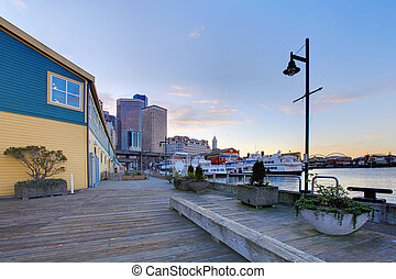 Seattle downtown waterfront - Seattle downtown near the...