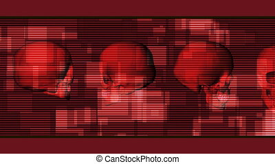 Template Style Skull Background - Looping Template Style...