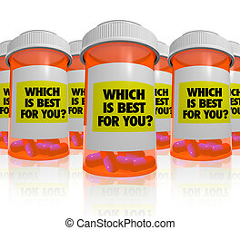Many Prescription Bottles - Which Medicine is Best - Many...