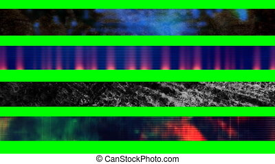 Four Abstract Looping L3rds X55 - Four Abstract Grunge...