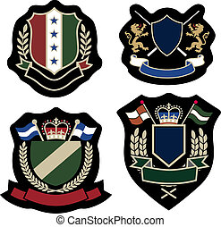 classic wreath emblem badge - royal classic wreath emblem...