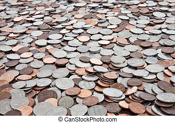 US Coin Background - Large background of United States...