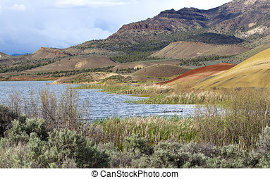 Reservoir at Painted Hills.