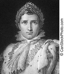 Napoleon I - Napoleon Bonaparte (1769-1821) on engraving...