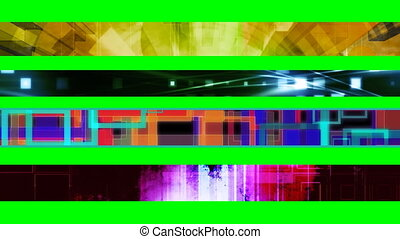 Four Abstract Looping L3rds X11 - Four Abstract Looping...