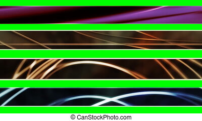 Four Abstract Looping L3rds X1