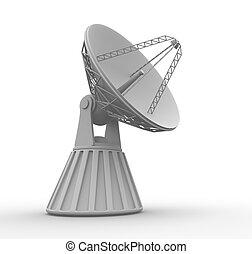 Parabolic disch - 3d render illustration of parabolic dish...