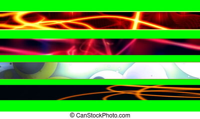 Four Abstract Looping L3rds X2 - Four Abstract Looping Lower...