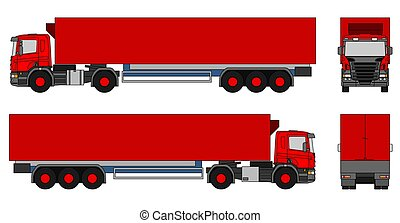 Semi-trailer truck - An illustration of a semi-trailer truck
