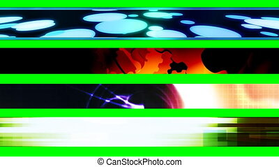 Four Abstract Looping L3rds X7 - Four Abstract Looping Lower...