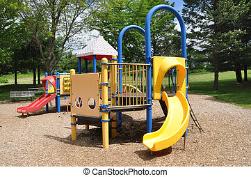 Children Park Playground Equipment - Empty Children Park...