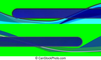 Two abstract Flowing lower Thirds looping on green screen