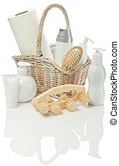 cosmetical set in Bast basket