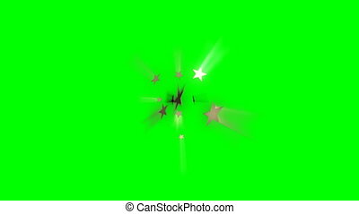 Stars Wipe Transition on green screen