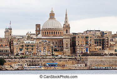 View of Valletta, Malta - View of Valletta with Our Lady of...