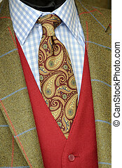 Tweed jacket and tie