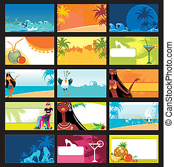 vacation cards set.