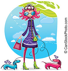 Spring shopping girl series 6 - Spring shopping girl with...