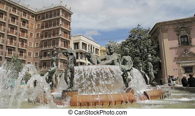 Valencia, Spain - Turia Fountain - Turia Fountain in the...