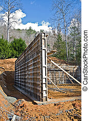 Concrete Wall Foundation - Building a foundation for a...